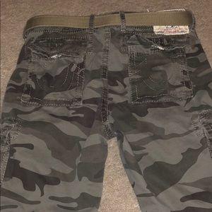 True religion cargo shorts